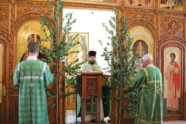 Престольный праздник в день Святой Троицы