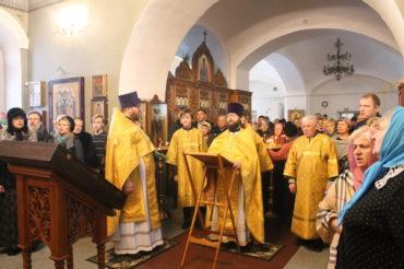 Новогодний молебен в Ознобишино